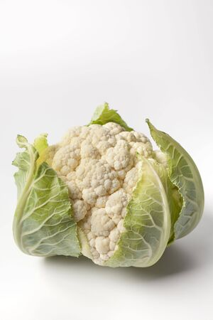Cauliflower on white background photo