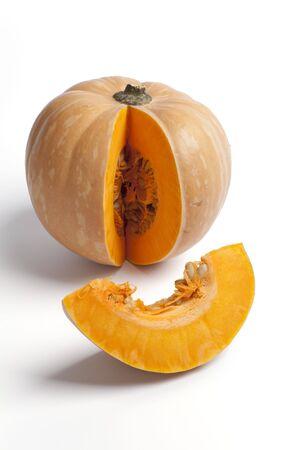 Pumpkin with a slice photo