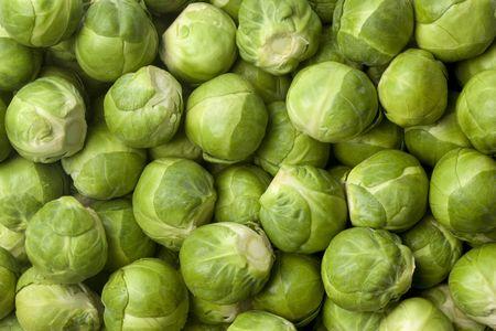 brussel: Fresh Brussel sprouts full frame