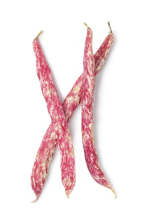 Whole fresh Borlotti beans Archivio Fotografico