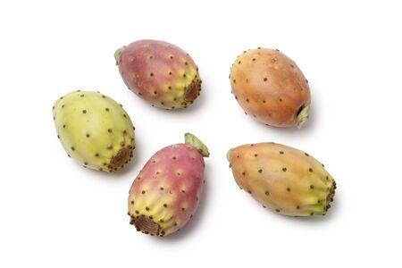 Whole  cactus pears on white background photo