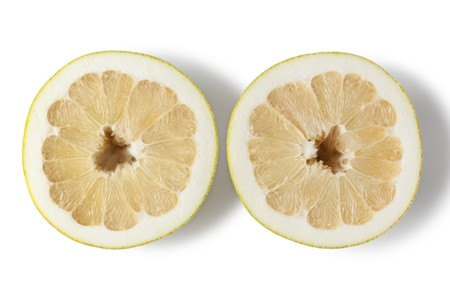 pummelo: Half pummelo isolated on white background Stock Photo