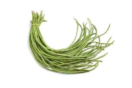 Bundle of fresh Chinese long beans on white background Stock Photo - 8045747