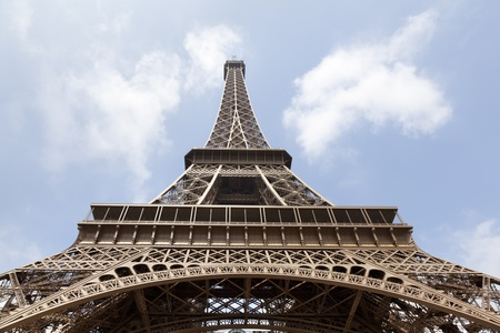 Eiffel tower seen from below  Paris France photo