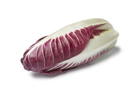 chicory: Fresh Radicchio rosso on white background Stock Photo