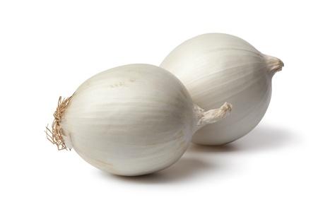 Whole fresh white onions