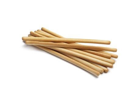 breadsticks: Palitos de pan dulce en el fondo blanco Foto de archivo