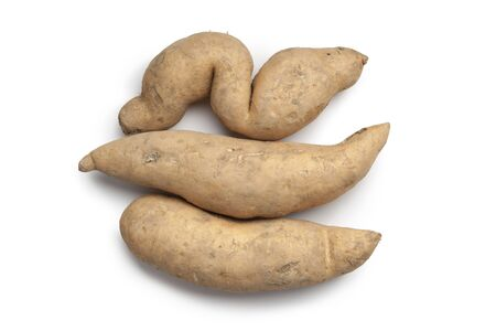 deformation:  Sweet potates on white background Stock Photo