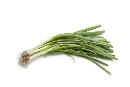 spring onions:  Fresh spring onions on white background,