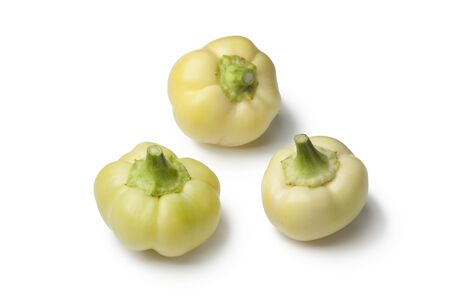bell peppers:  White bell peppers on white background