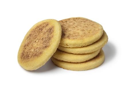 Pile of Moroccan Harcha, Semolina Pan-Fried Flatbread