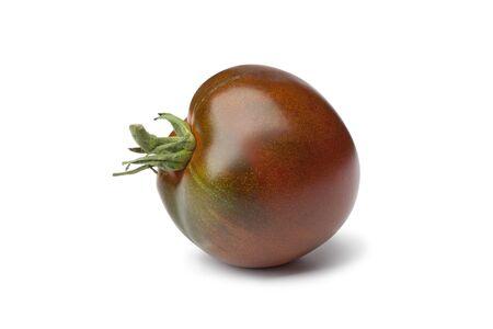 vegetables white background: Purple  Beefsteak Tomato on white background