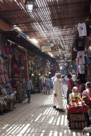 medina: Souk in the medina of Marrakesh, Morocco, April 1, 2012
