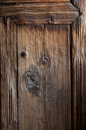 Ancient wooden door in the Medersa ben Youssef, Marrakech, Morocco, April 1, 2012
