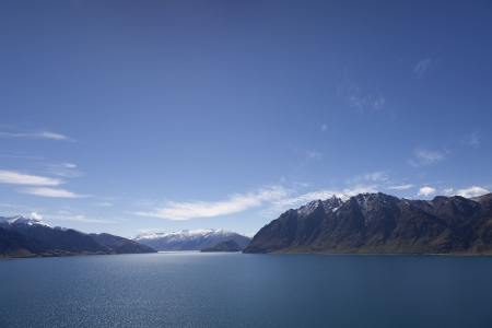 Lake Hawea on the Southern island of New Zealand photo