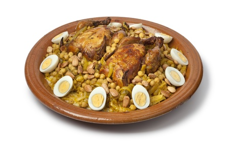 couscous: Couscous Tfaya, Moroccan Couscous with chicken and caramelized Onions, almonds and hard boiled eggs