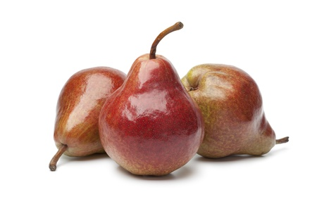 william: Red William pears on white background