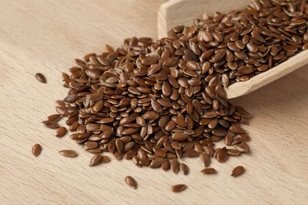 brown flax: Brown flax seeds Stock Photo