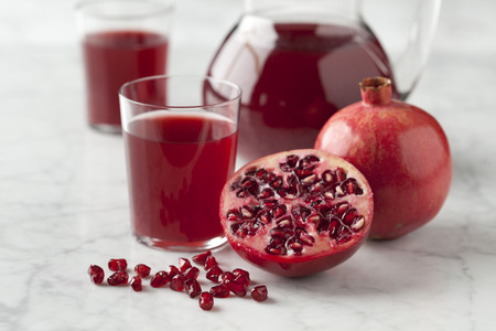 Fresh pomegranate juice in a jar