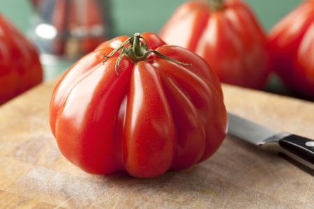 coeur:  Whole fresh Coeur de Boeuf Tomato
