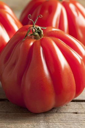 coeur:  Whole fresh Coeur de Boeuf Tomatoes
