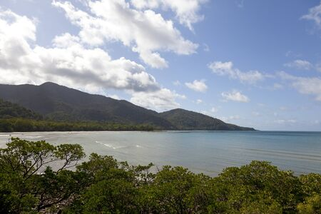 tribulation: Kulki lookout in Cape Tribulation, Queensland,Australia Stock Photo