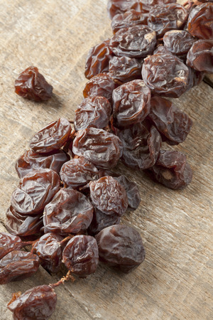muscat: Twig of dried muscat raisins close up