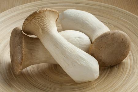 royale: Fresh raw king oyster mushrooms Stock Photo