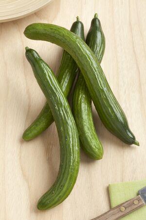 homegrown: Homegrown fresh organic cucumbers