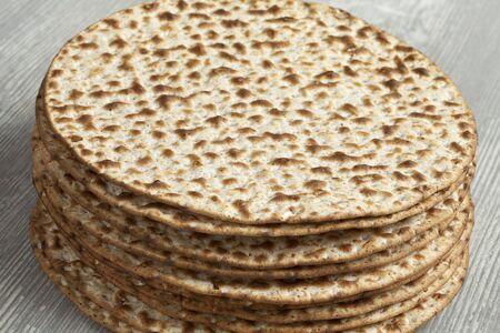 matzah: Pile of fresh wholewheat matzah