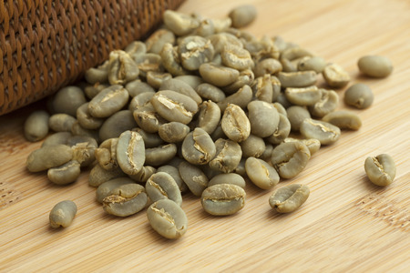 coffee beans: Heap of Indonesian Mandheling unroasted coffee beans