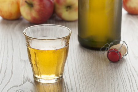 Homemade apple cider in a glass