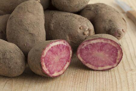 tuberosum: Fresh raw Highland Burgundy Red potatoes