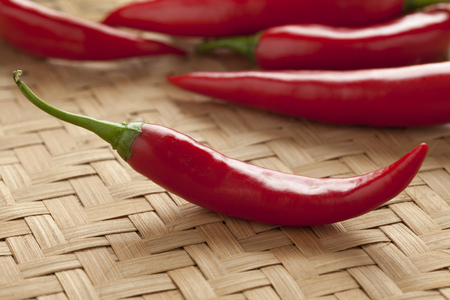 red peppers: Fresh hot red peppers