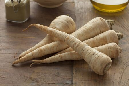heirloom: Fresh raw heirloom parsnips