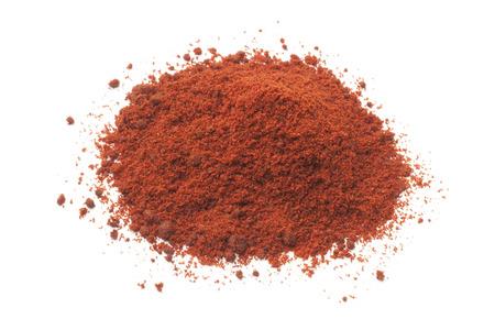 Heap of paprika powder on white background
