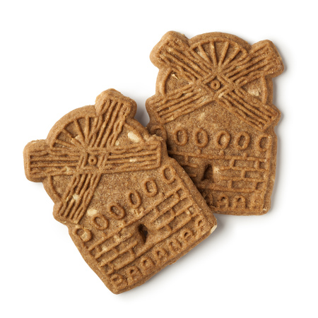 speculaas: Traditional dutch speculaas cookies on white background
