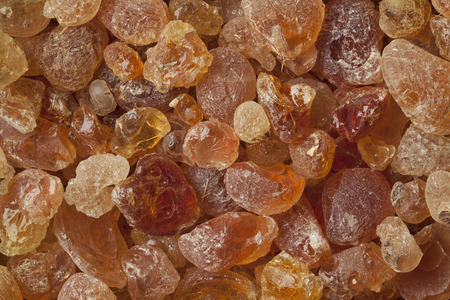 Pieces of Gum arabic full frame Stock Photo - 63254790