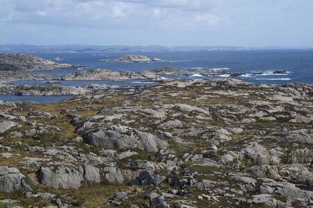 view on sea: Sea view and rocks at  Lindesnes, Norway
