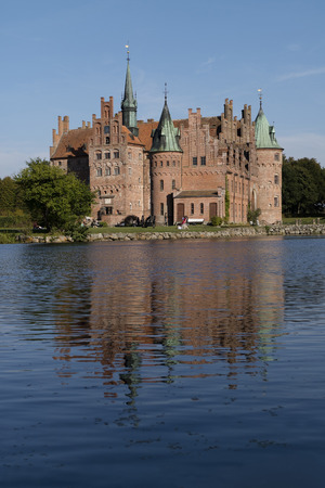 history architecture: Exterior of the Egeskov Slot in Funen, Denmark