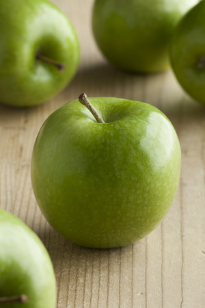green apples: Fresh ripe green apples