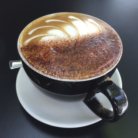 cappuccino cup: Cup of tasty cappuccino