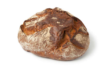 pastry crust: Traditional fresh german Krustenbrot on white background