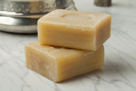 Pieces of traditional Moroccan soap for hamam Stock Photo