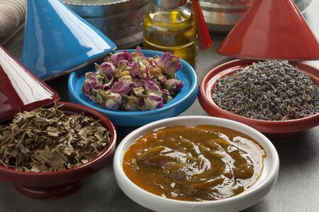 Diversity of traditional Moroccan cosmetic hamam herbs