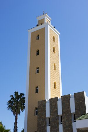 Tower of the Mohamed Vmosque in Asilah in Northern Morocco