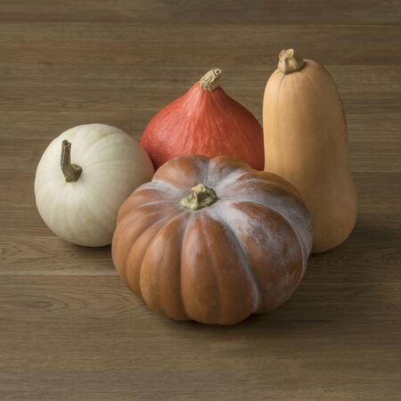 Diversity in shape and taste of fresh pumpkins