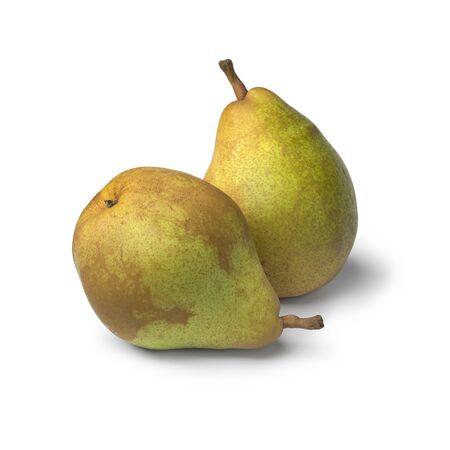 Pair of fresh ripe Doyenne du Comice pears isolated on white background Reklamní fotografie