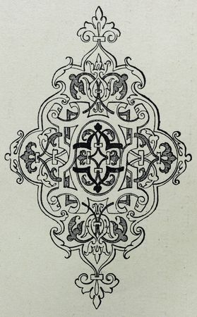 Decorative ornament designed in the 19th century.