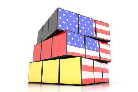 between: relationship between Germany and USA Stock Photo